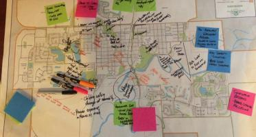 High River. Participatory map